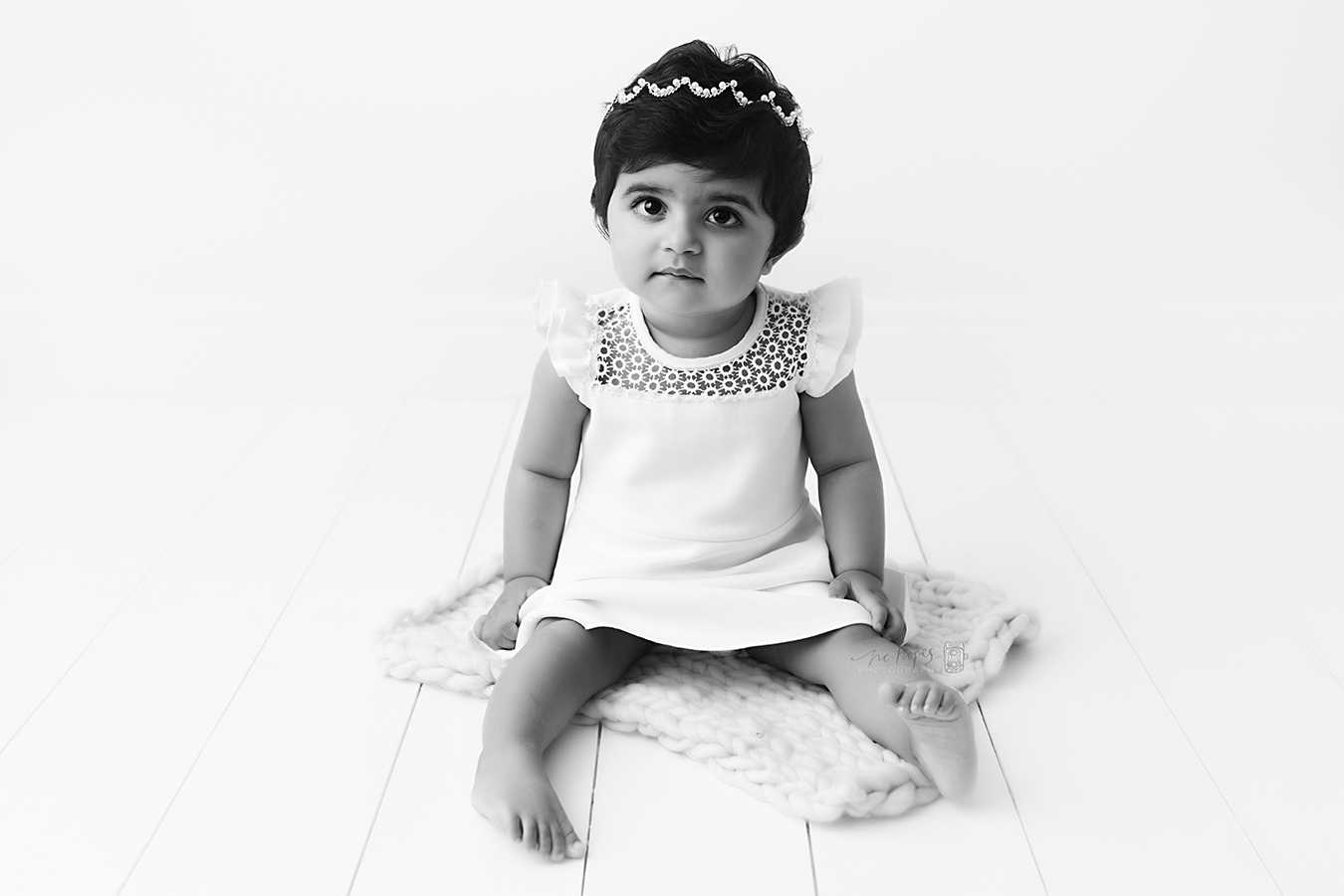 Black and white baby photos Stockport