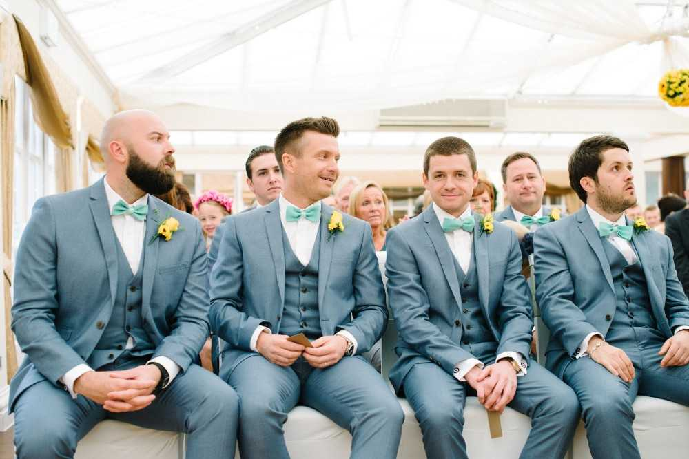 Groomsmen at Mere Court Hotel Wedding Knutsford