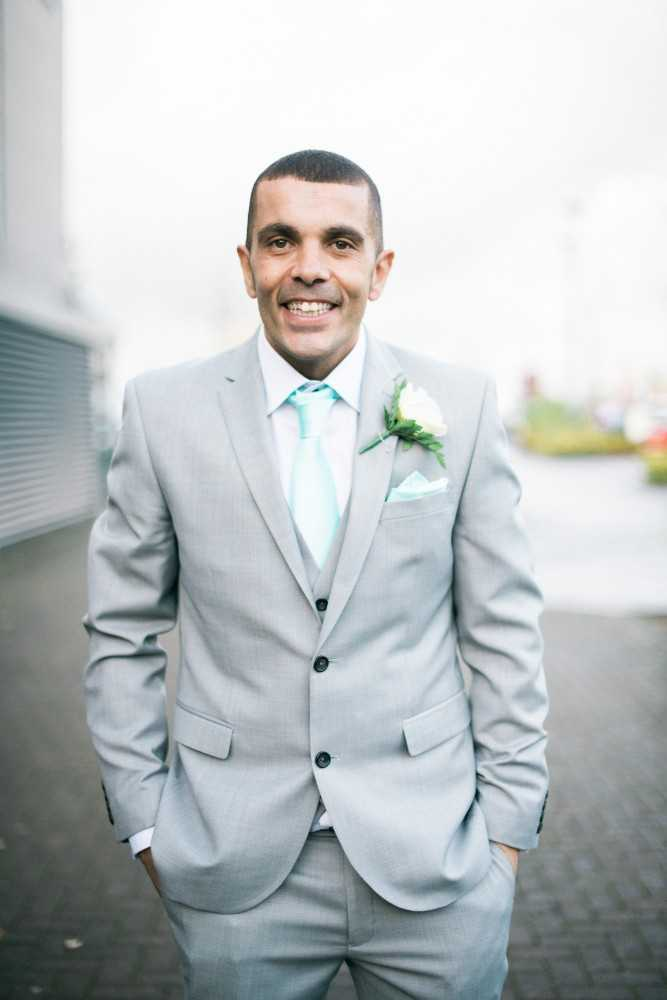 Groom looking nervous at Great John Street Manchester Wedding
