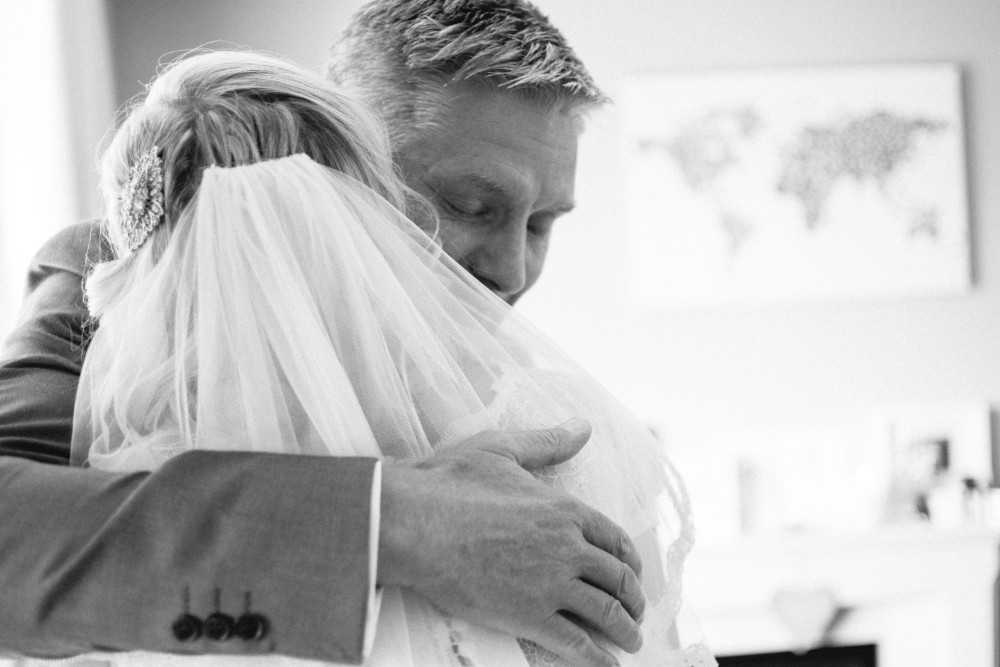 Father of the bride with daughter at Castlefield Rooms wedding Manchester