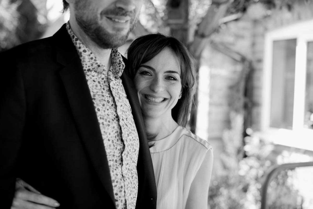 Bride and Groom at Wedding Breakfast Sandhole Oak Barn Marton Cheshire