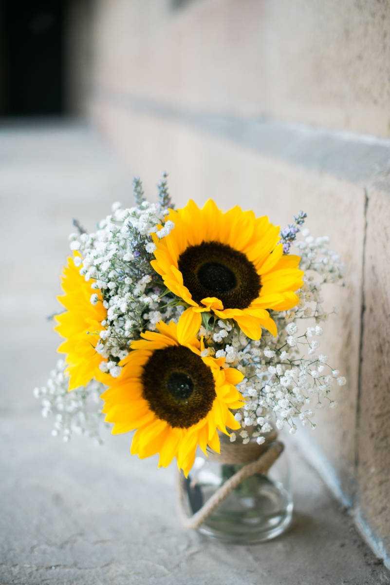 Wedding sunflowers at Hilltop Country House Farm Wedding Venue  Prestbury Cheshire