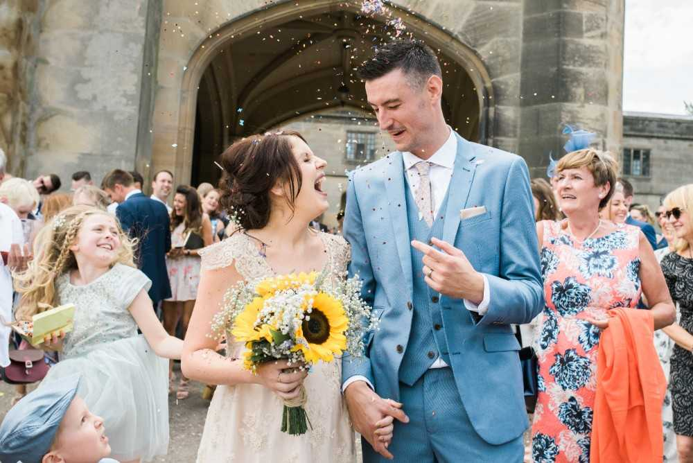Wedding couple at Colshaw Hall
