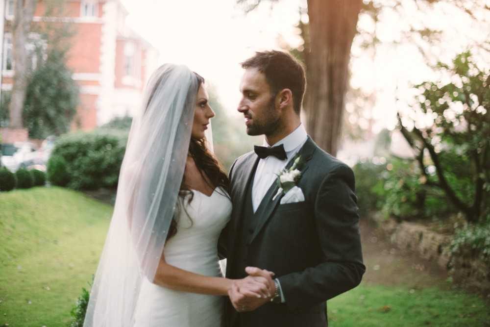 Photograph by Stockport photographer of Bride and Groom at Didsbury House Hotel Wedding
