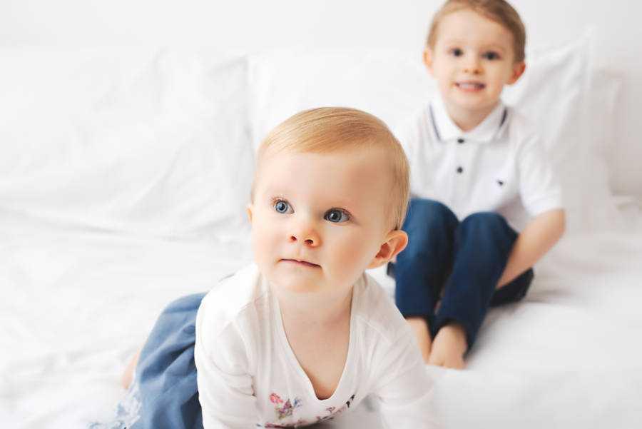 Sibling image taken in Stockport Photography Studio