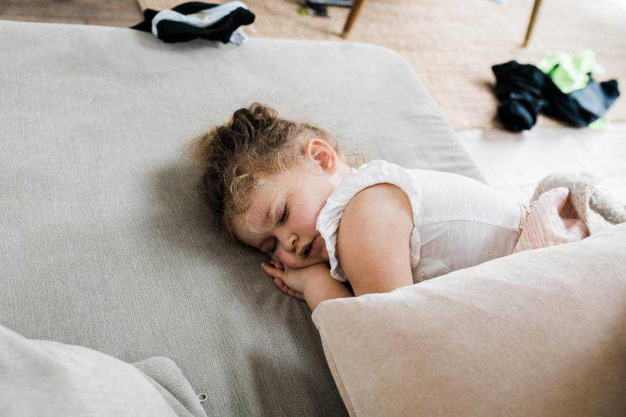Little girls fast asleep