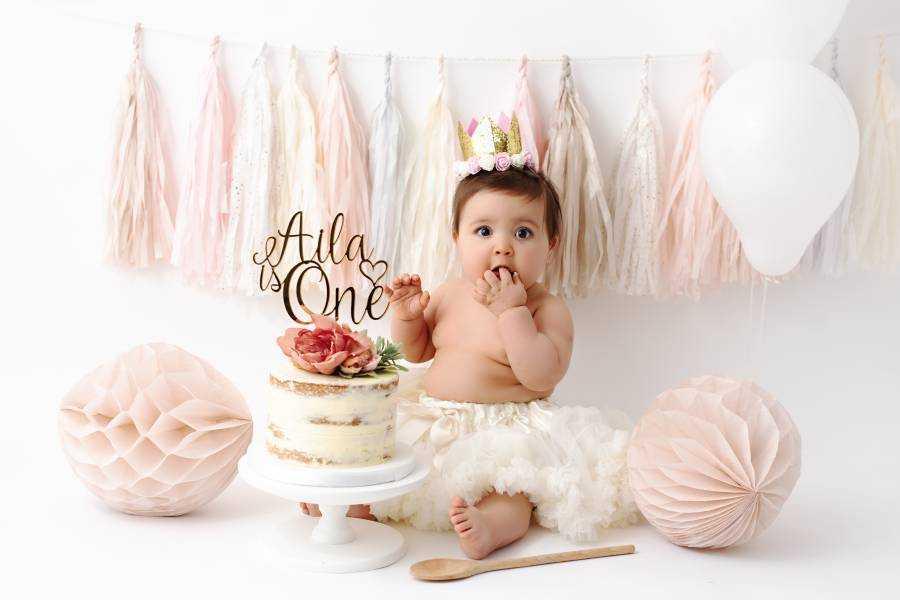 Baby Boy Blue Cake Smash Photo