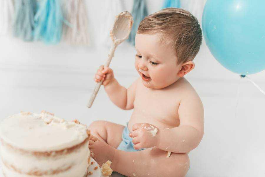 Cake Smash 1st Birthday Boy Poynton
